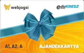 Webjogsi ajándékkártya A1, A2, A vezetői kategóriákra