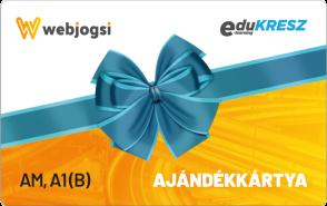 Webjogsi ajándékkártya AM, A1(B) vezetői kategóriákra