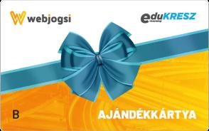 Webjogsi ajándékkártya B vezetői kategóriákra